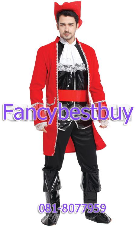 ชุดแฟนซีผู้ชาย ชุดโจรสลัดรูปงาม Handsome Pirate ขนาดฟรีไซด์