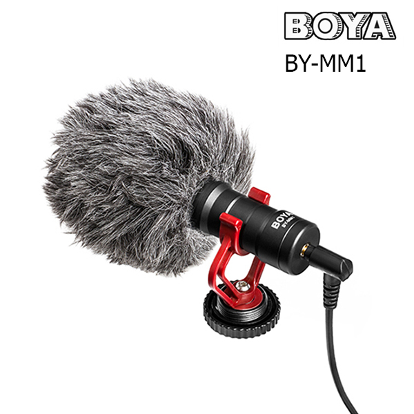Microphone BOYA Condenser BY-MM1 cardioid microphone, which specially design to improve the sound