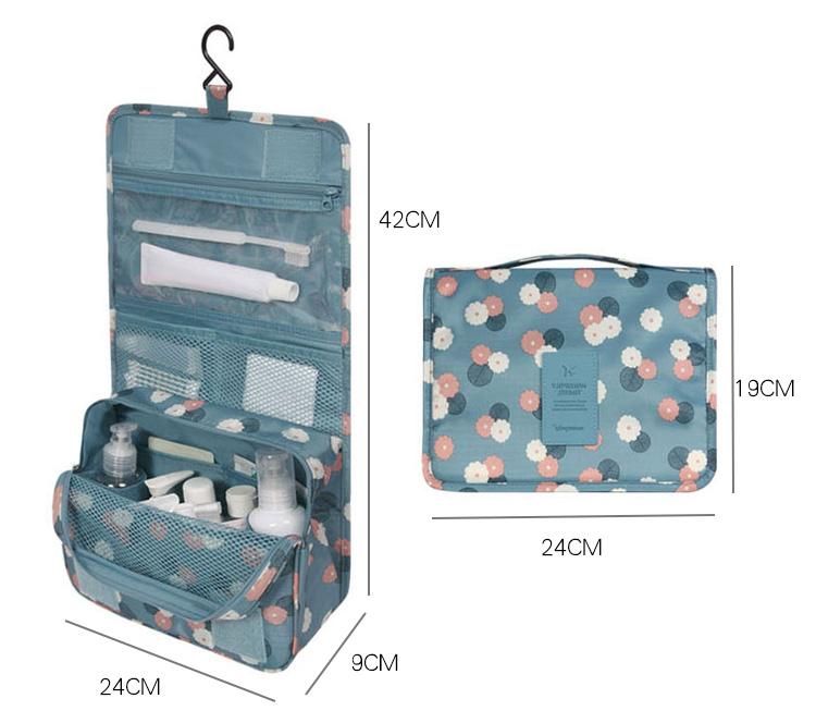 (สีฟ้า) กระเป๋าสะพายกันน้ำพกพาพับเก็บได้ ขนาด 24 x 19 CM